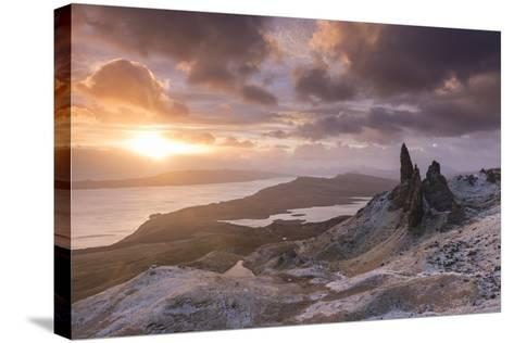 Spectacular Sunrise over the Old Man of Storr, Isle of Skye, Scotland. Winter (December)-Adam Burton-Stretched Canvas Print