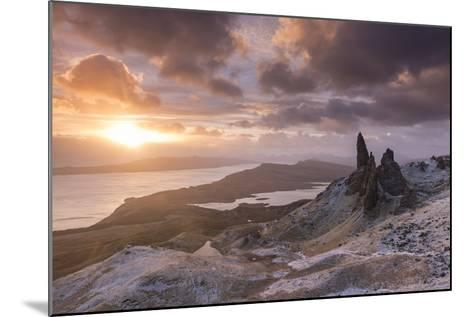Spectacular Sunrise over the Old Man of Storr, Isle of Skye, Scotland. Winter (December)-Adam Burton-Mounted Photographic Print