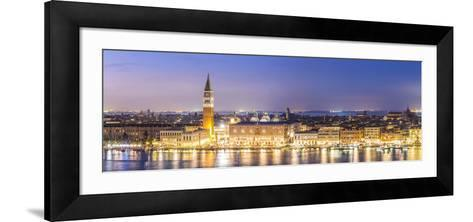 Italy, Veneto, Venice. High Angle View of the City at Dusk-Matteo Colombo-Framed Art Print