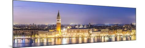 Italy, Veneto, Venice. High Angle View of the City at Dusk-Matteo Colombo-Mounted Photographic Print
