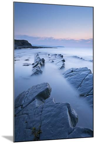 Twilight Skies Above Rocky Kilve Beach on the Somerset Coast, England. Summer (July)-Adam Burton-Mounted Photographic Print
