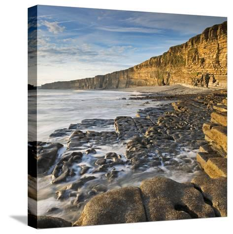 Nash Point on the Glamorgan Heritage Coast, South Wales, UK. Summer (August)-Adam Burton-Stretched Canvas Print