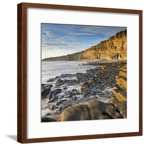 Nash Point on the Glamorgan Heritage Coast, South Wales, UK. Summer (August)-Adam Burton-Framed Art Print