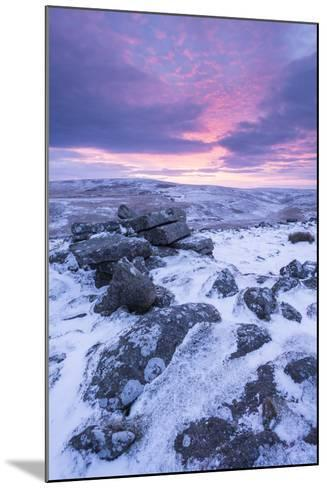Beautiful Sunrise over a Frozen Snow Covered Moorland-Adam Burton-Mounted Photographic Print