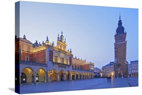 Town Hall Tower and Cloth Hall, Market Square, Krakow, Poland, Europe-Neil Farrin-Stretched Canvas Print
