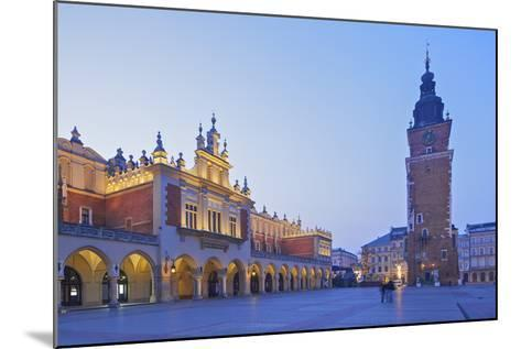 Town Hall Tower and Cloth Hall, Market Square, Krakow, Poland, Europe-Neil Farrin-Mounted Photographic Print