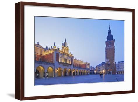 Town Hall Tower and Cloth Hall, Market Square, Krakow, Poland, Europe-Neil Farrin-Framed Art Print
