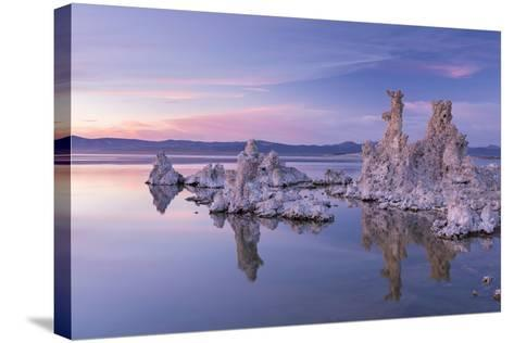 Salt Pillar Formations at Sunset, South Tufa, Mono Lake, California, USA-Adam Burton-Stretched Canvas Print