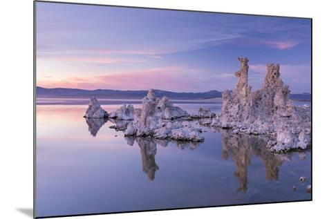 Salt Pillar Formations at Sunset, South Tufa, Mono Lake, California, USA-Adam Burton-Mounted Photographic Print