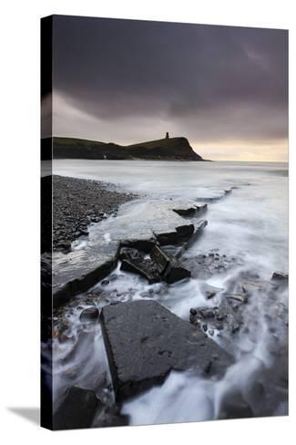 High Tide around the Broken Ledges on Kimmeridge Bay Shores, on the Jurassic Coast, Dorset, England-Adam Burton-Stretched Canvas Print