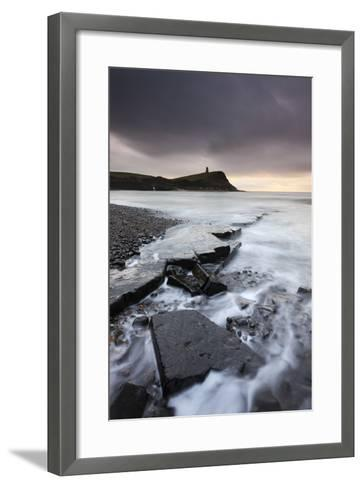 High Tide around the Broken Ledges on Kimmeridge Bay Shores, on the Jurassic Coast, Dorset, England-Adam Burton-Framed Art Print
