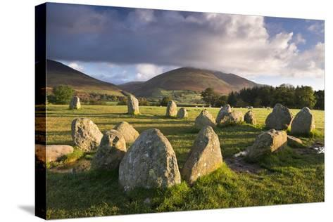 Castlerigg Stone Circle with Blencathra Mountain Behind, Lake District, Cumbria-Adam Burton-Stretched Canvas Print