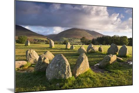 Castlerigg Stone Circle with Blencathra Mountain Behind, Lake District, Cumbria-Adam Burton-Mounted Photographic Print