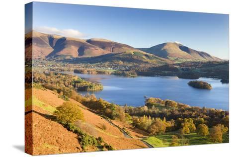Derwent Water Skiddaw and Blencathra, Lake District National Park, Cumbria-Adam Burton-Stretched Canvas Print