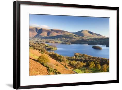 Derwent Water Skiddaw and Blencathra, Lake District National Park, Cumbria-Adam Burton-Framed Art Print