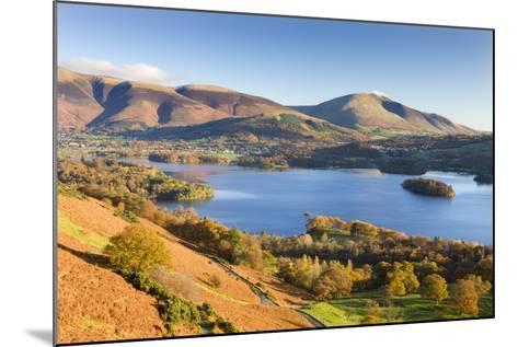 Derwent Water Skiddaw and Blencathra, Lake District National Park, Cumbria-Adam Burton-Mounted Photographic Print