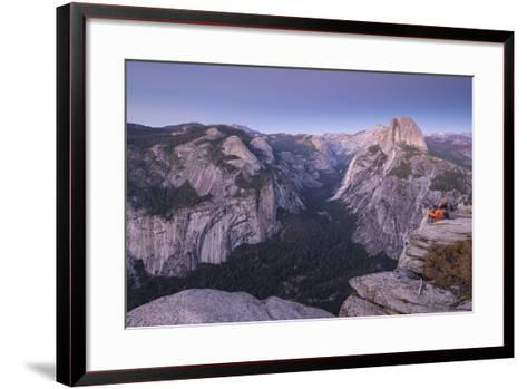 Half Dome and Yosemite Valley from Glacier Point, Yosemite National Park, California-Adam Burton-Framed Art Print