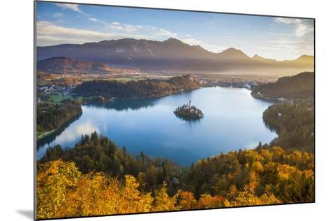 Lake Bled and the Julian Alps Illuminated at Sunrise, Lake Bled, Bled, Upper Carniola, Slovenia-Doug Pearson-Mounted Photographic Print