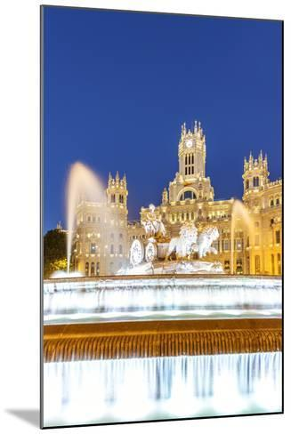 Spain, Madrid. Plaza De Cibeles with Famous Fountain and Town Hall Building Behind-Matteo Colombo-Mounted Photographic Print