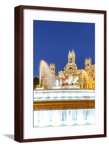Spain, Madrid. Plaza De Cibeles with Famous Fountain and Town Hall Building Behind-Matteo Colombo-Framed Art Print