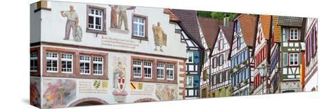 Traditional Half Timbered Buildings in Schiltach's Picturesque Medieval Altstad, Baden-Wurttemberg-Doug Pearson-Stretched Canvas Print