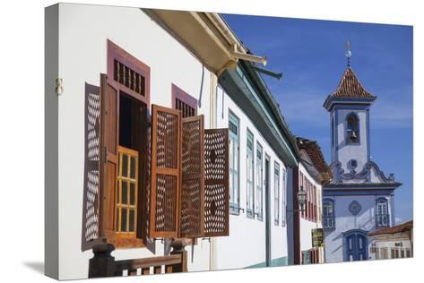 Colonial Architecture and Church of Amparo, Diamantina (Unesco World Heritage Site), Minas Gerais-Ian Trower-Stretched Canvas Print