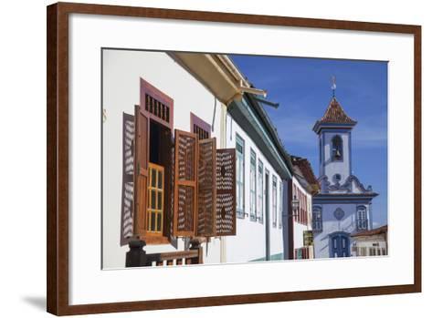 Colonial Architecture and Church of Amparo, Diamantina (Unesco World Heritage Site), Minas Gerais-Ian Trower-Framed Art Print