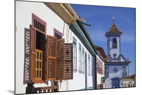 Colonial Architecture and Church of Amparo, Diamantina (Unesco World Heritage Site), Minas Gerais-Ian Trower-Mounted Photographic Print