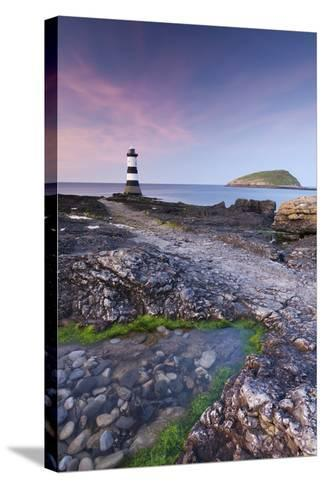 Penmon Point Lighthouse and Puffin Island, Anglesey, North Wales-Adam Burton-Stretched Canvas Print