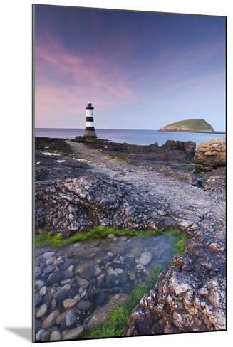 Penmon Point Lighthouse and Puffin Island, Anglesey, North Wales-Adam Burton-Mounted Photographic Print