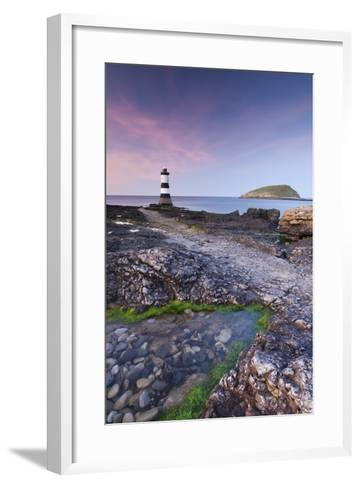 Penmon Point Lighthouse and Puffin Island, Anglesey, North Wales-Adam Burton-Framed Art Print