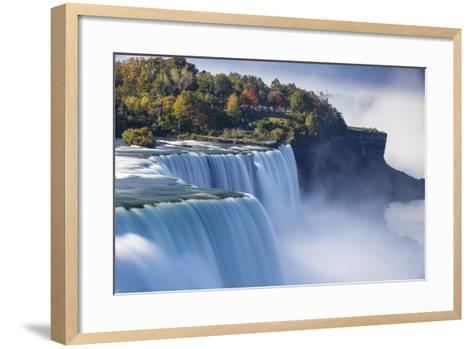 Canada and USA, Ontario and New York State, Niagara, Niagara Falls, the American and Canadian Falls-Jane Sweeney-Framed Art Print