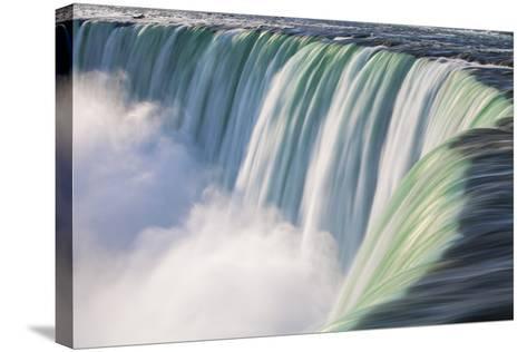 Canada, Ontario, Niagara, Niagara Falls, View of Table Rock Visitor Center and Horseshoe Falls-Jane Sweeney-Stretched Canvas Print