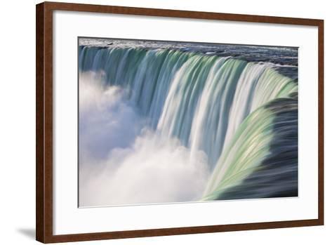 Canada, Ontario, Niagara, Niagara Falls, View of Table Rock Visitor Center and Horseshoe Falls-Jane Sweeney-Framed Art Print