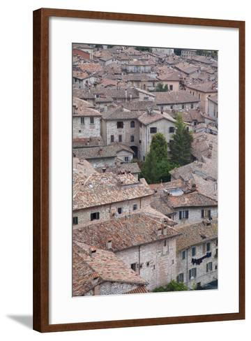 View of Gubbio, Umbria, Italy-Ian Trower-Framed Art Print