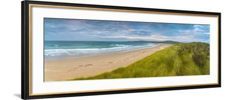 UK, Scotland, Argyll and Bute, Islay, Machir Bay from Sand Dunes-Alan Copson-Framed Art Print