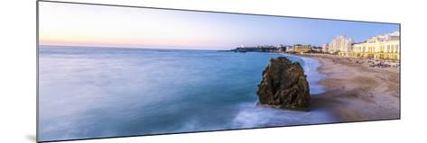 France, Aquitaine, Pyrenees Atlantiques, Biarritz. La Grande Plage at Sunset-Matteo Colombo-Mounted Photographic Print