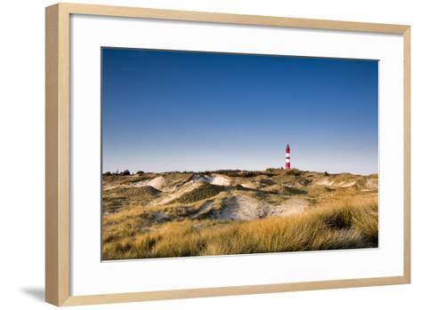 Lighthouse in the Dunes, Amrum Island, Northern Frisia, Schleswig-Holstein, Germany-Sabine Lubenow-Framed Art Print