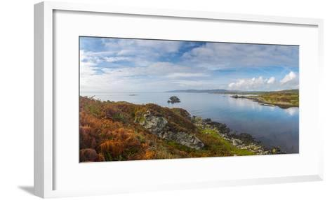 UK, Scotland, Argyll and Bute, Islay, Loch Laphroaig Beside Laphroaig Distillery-Alan Copson-Framed Art Print