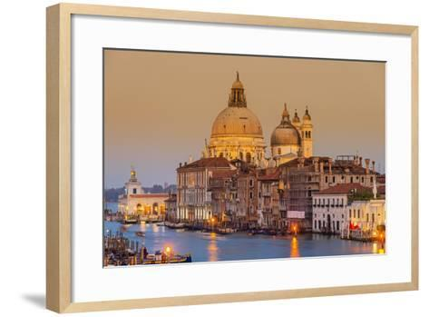 Santa Maria Della Salute Church and Grand Canal at Sunset, Venice, Veneto, Italy-Stefano Politi Markovina-Framed Art Print