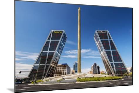 Plaza De Castilla with Puerta De Europa Twin Towers, Madrid, Comunidad De Madrid, Spain-Stefano Politi Markovina-Mounted Photographic Print