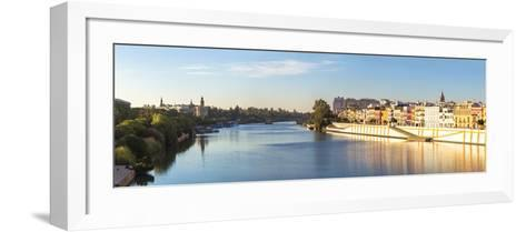 Spain, Andalusia, Seville. Triana District at Sunrise with Guadalquivir River-Matteo Colombo-Framed Art Print