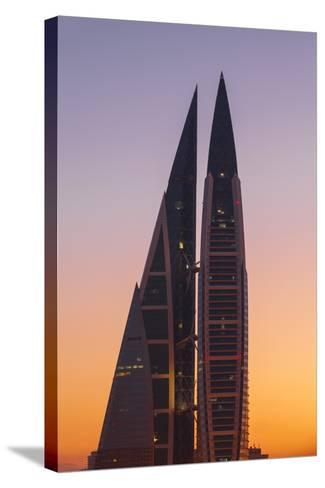 Bahrain, Manama, Bahrain World Trade Center-Jane Sweeney-Stretched Canvas Print