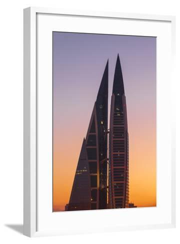 Bahrain, Manama, Bahrain World Trade Center-Jane Sweeney-Framed Art Print