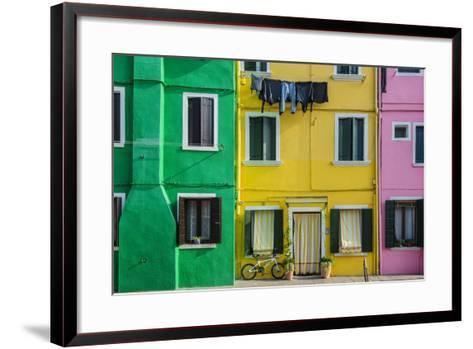 Colourful Painted Houses in Burano, Veneto, Italy-Stefano Politi Markovina-Framed Art Print