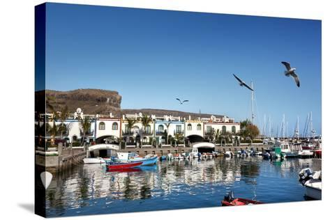 Marina, Puerto De Mogan, Gran Canaria, Canary Islands, Spain-Sabine Lubenow-Stretched Canvas Print
