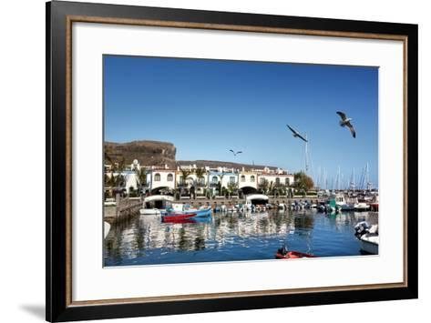 Marina, Puerto De Mogan, Gran Canaria, Canary Islands, Spain-Sabine Lubenow-Framed Art Print