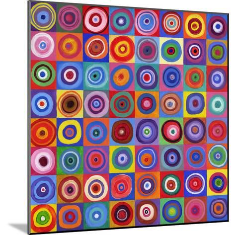 In Square Circle 64 after Kandinsky, 2012-David Newton-Mounted Giclee Print