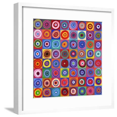 In Square Circle 64 after Kandinsky, 2012-David Newton-Framed Art Print