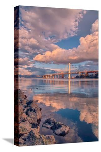 Bay Bridge Cloudscape, Oakland, California--Stretched Canvas Print